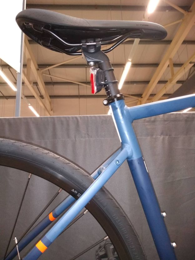rear frame of a bicycle with eyelets for a pannier rack