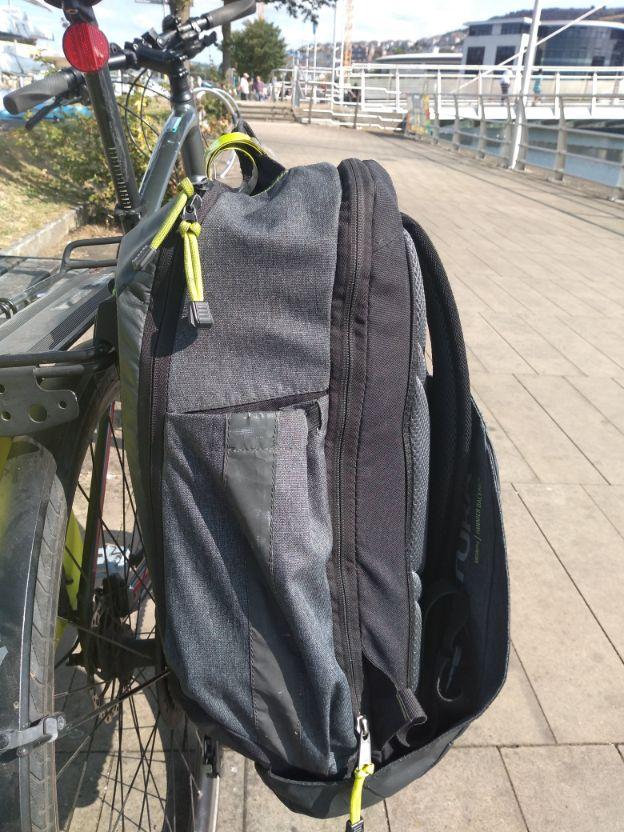 pannier bag on rear bike rack