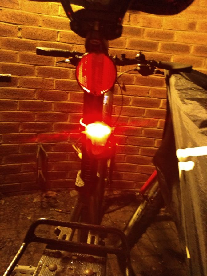 rear bike light on seat post