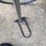 bike lock on stand left on floor