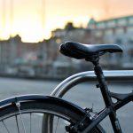 bike locked up on the street